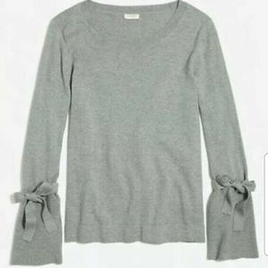 J Crew Womens Gray Tye Bell Sleeve Sweater Small